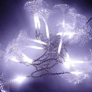 Guirlande Led Pile : guirlande led fibre optique 10 m tres couleur blanche ~ Teatrodelosmanantiales.com Idées de Décoration