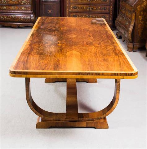 antique deco burr walnut dining table circa 1930 at 1stdibs