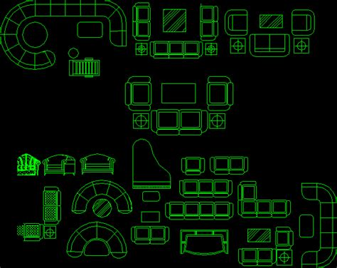 living room set dwg block  autocad designs cad
