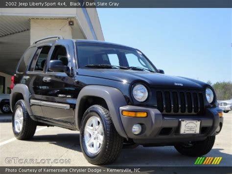black jeep liberty interior black 2002 jeep liberty sport 4x4 dark slate gray