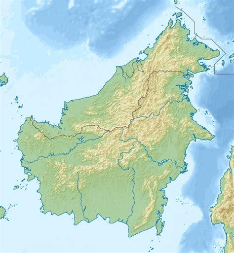 filerelief map  borneopng wikimedia commons