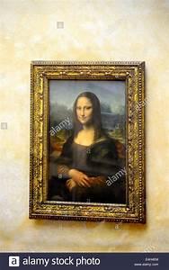 Mona Lisa Painting The Louvre Museum Paris France Europe ...