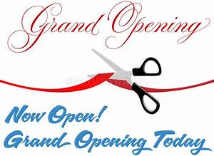 Scissors Cut Grand Opening Today Ribbon Stock Photography ...