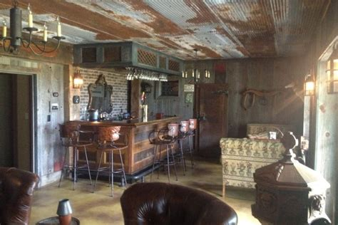 diy bar made from old barn scraps is the ultimate man cave photo huffpost