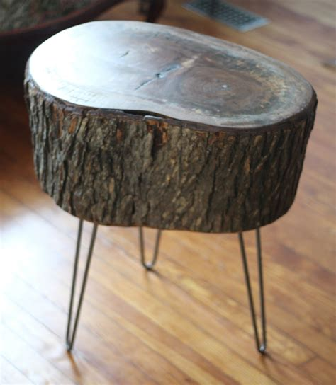 how to make a tree stump end table 11 tree stump side table designs guide patterns