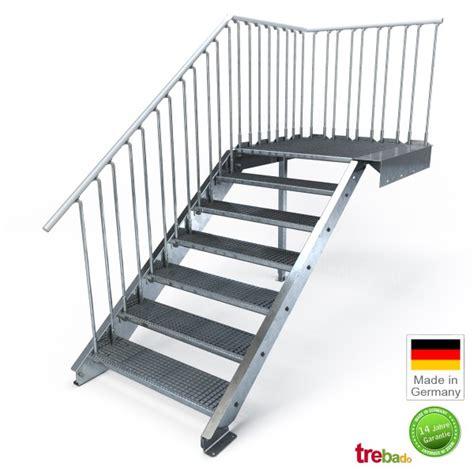 außentreppe podest bausatz treppe 3 stufen aussen treppe mit podest aussen ig78 hitoiro stahlwangentreppen mit podest