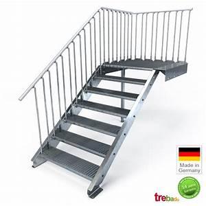 Treppe 3 Stufen Aussen : au entreppe podest mit 7 stufen laufweite 100 cm treppen bausatz do it yourself ~ Frokenaadalensverden.com Haus und Dekorationen