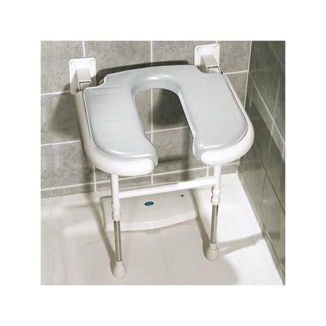 siège rabattable matelassé en forme de u pour la salle de bain