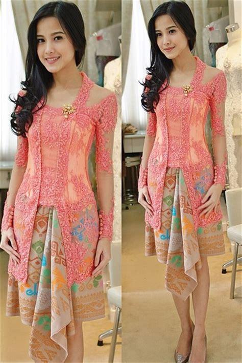 kebaya simple modern model baju muslimah batik terbaru
