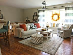 livingroom pictures fall decor in living room with ikea hack plank coffee table and striped drapes www