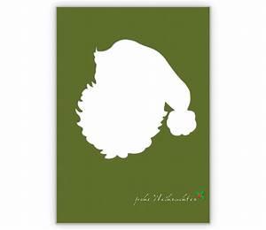 Grün Auf Englisch : coole weihnachtskarte mit weihnachtsmann silhouette auf gr n grusskarten onlineshop ~ Orissabook.com Haus und Dekorationen