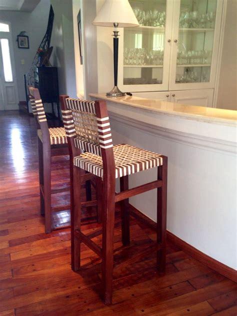 banquetas altas  bar muebles rusticos madera  cuero