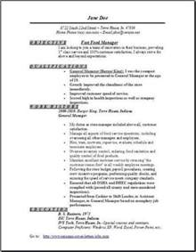 fast free resume template fast food manager resume sle best resume gallery
