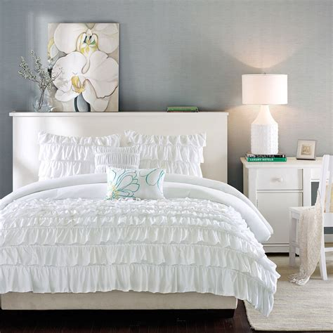 beautiful modern chic white ruffled ruched texture soft