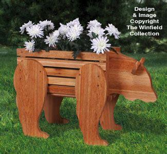 planter woodworking plans bear planter woodworking pattern