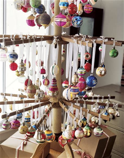 picture of drying rack as christmas tree