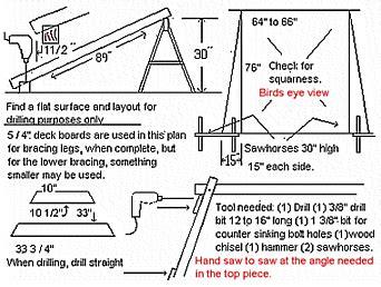build  porch swing frame plans diy