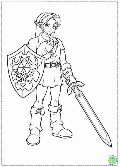 Coloring Zelda Legend Pages Link Dinokids Close