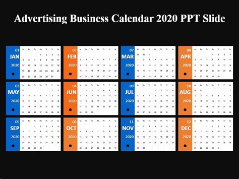 advertising business calendar powerpoint