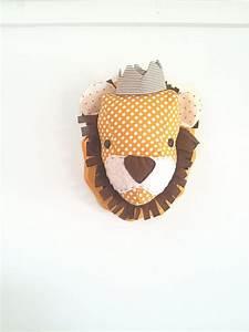 Trophée Mural Peluche : mural en peluche lion d cor de p pini re lunatique taxidermie faux personnalis sur mesure ~ Teatrodelosmanantiales.com Idées de Décoration