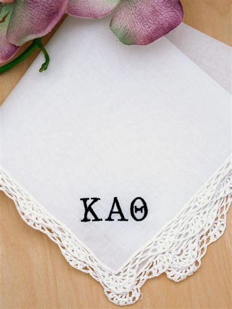 custom monogrammed women 39 s handkerchiefs brides something sorority greek personalized ladies handkerchief