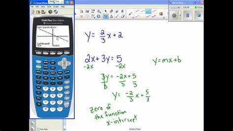 finding   intercepts  calculator youtube