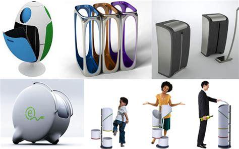 designer trash can 13 futuristic trash and recycle bin designs