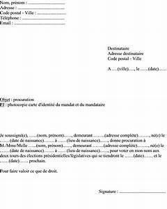 Documents Pour Compromis De Vente : mod le lettre de procuration pour voter aux lections pr sidentielles et l gislatives ~ Gottalentnigeria.com Avis de Voitures
