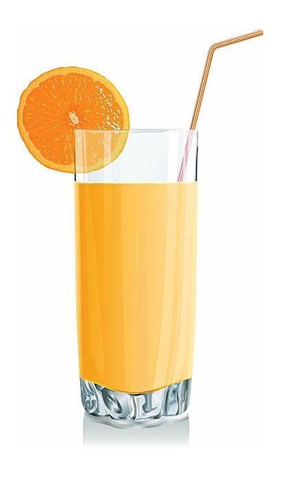 Juice Orange Vector Clip Fresh Squeezed Illustrations