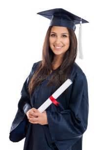 college graduate  cap  gown stock image image