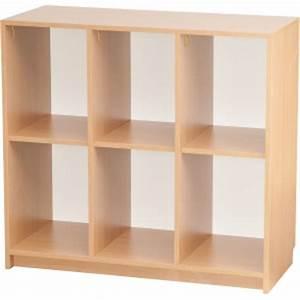 Rangement 6 Cases : meuble de rangement en bois ludomania ~ Teatrodelosmanantiales.com Idées de Décoration