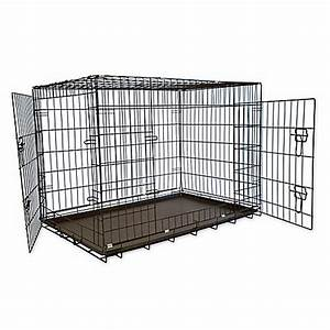 foldable double door pet crate with divider bed bath With dog crates tsc stores