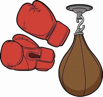 Vector Boxing Thai Muay Clip Equipment Illustrations
