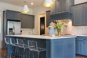 marble chevron kitchen backsplash transitional kitchen With kitchen colors with white cabinets with large sun face wall art