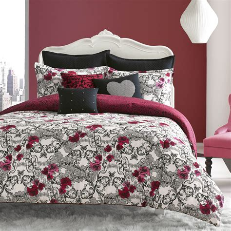 34011 betsey johnson bedding betsey johnson rock out comforter set reverses to lace