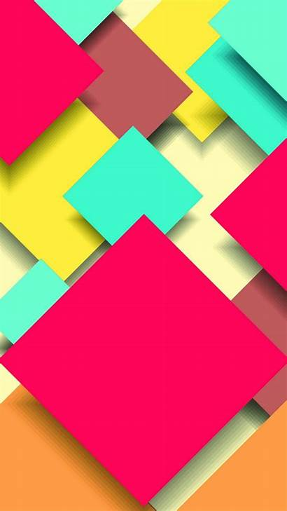 Square Abstract Wallpapers Iphone Colorful Overlap