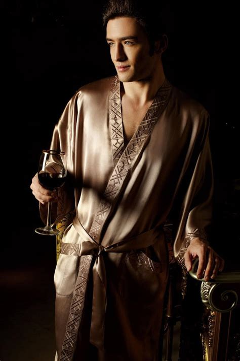 robe de chambre homme satin 19mm silk sleepwear kimono robe 39 s pajama