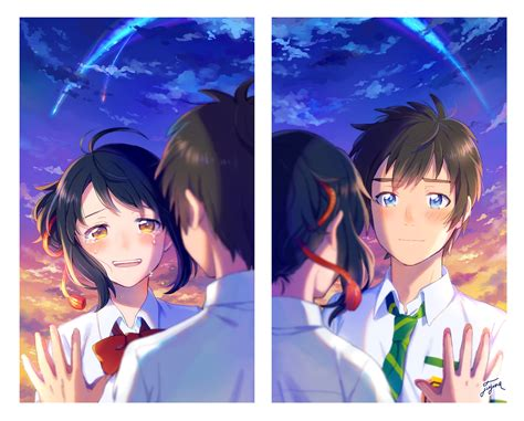 Anime Your Name Kimi No Na Wa Link 2016 Random Thoughts Kimi No Na Wa Your Name Image 2036441 Zerochan
