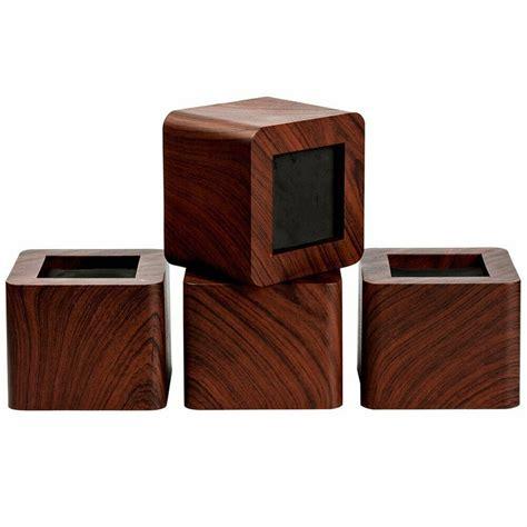 pcs heavy duty wood grain bed risers furniture