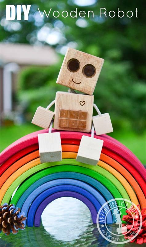 diy wooden robot buddy easy project  kids wooden