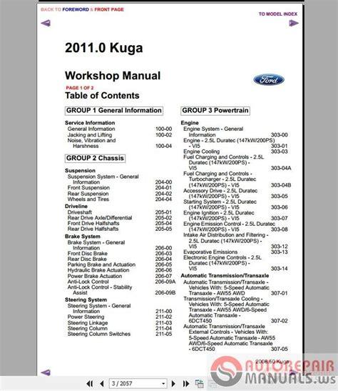 ford kuga mk  workshop manual wiring diagram auto