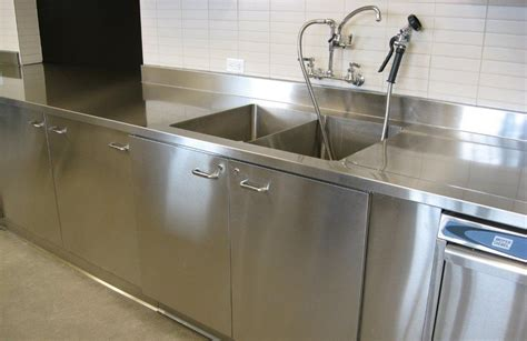 stainless steel commercial kitchen cabinets how to clean commercial stainless steel sink the homy design