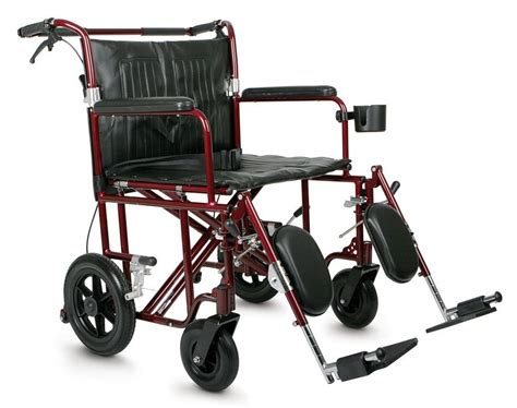 Bariatric Transport Wheelchair 400 Lb Capacity by Medline Excel Freedom Plus 22 Quot Baratric Transport