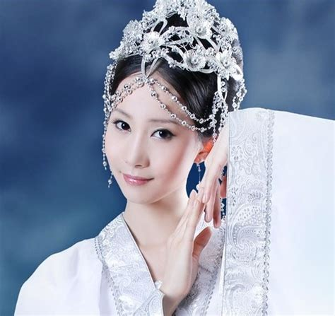 ancient chinese fairy white costume  hair accessories