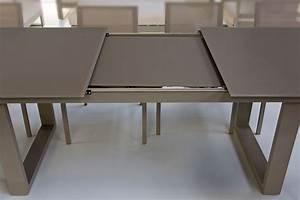 table carre blanche avec rallonge trendy table design With meuble salle À manger avec table carràé avec rallonge