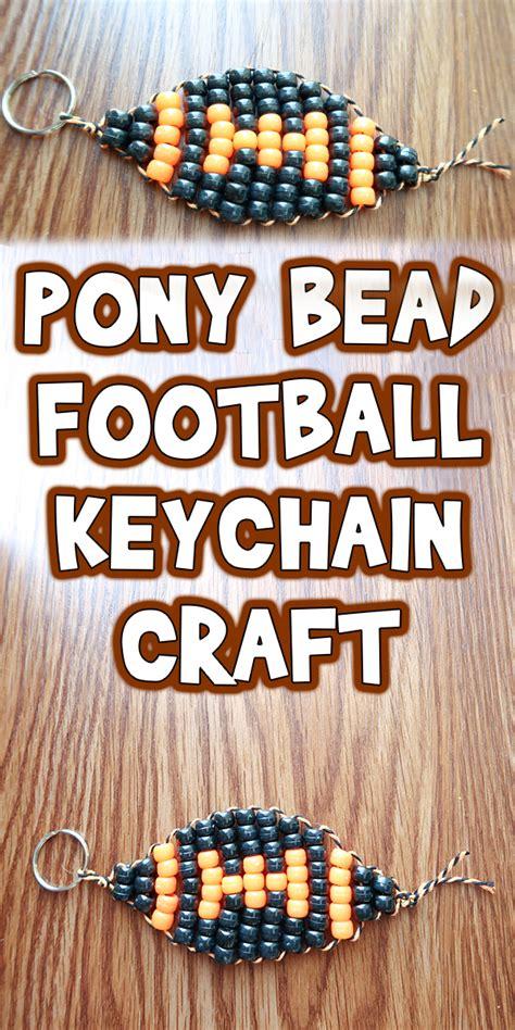 pony bead football keychain craft woo jr kids activities