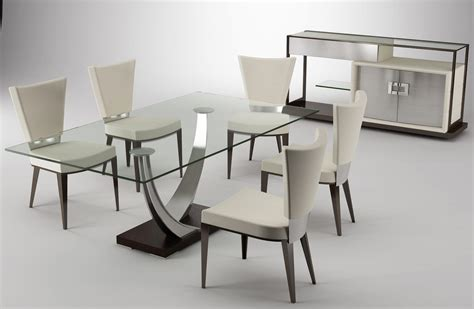 modern dining table legs rectangle glass top table with silver steel legs and black