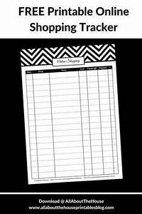 Free Printable Budget Template Free Printable Online Shopping Tracker Editable Planner