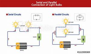 Shows The Diagram Of Serial And Parallel Lightbulb