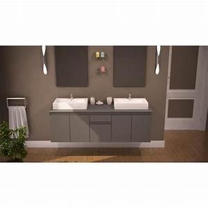 Meuble Salle De Bain 150 Cm : como ensemble salle de bain double vasque 150cm achat ~ Dailycaller-alerts.com Idées de Décoration